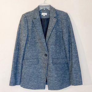 Loft Gray Wool Blazer Jacket Size 4